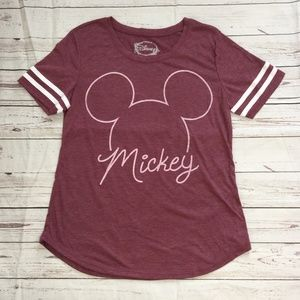 Tops - 🔴 New Mickey Mouse Burgundy T-Shirt